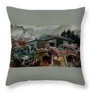 Halloween On The Hill Throw Pillow