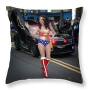 Halloween Parade In Newark's Ironbound Throw Pillow