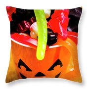 Halloween Party Details Throw Pillow