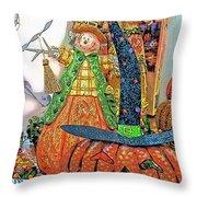 Halloween Scarecrow And Pumpkin Pa 02 Vertical Throw Pillow
