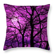 Halloween Trees No 3 By Dm Carpenter Throw Pillow