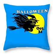 Halloween Witch #2 Throw Pillow