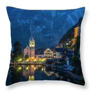 Hallstat Village Throw Pillow