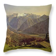 Hallstatter See Throw Pillow by Ferdinand Georg Waldmuller