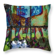 Hallucinatory Rawness Throw Pillow