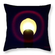 Halo Of Light Throw Pillow