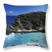 Halona Blow Hole Throw Pillow