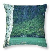 Halong Bay 01 Throw Pillow