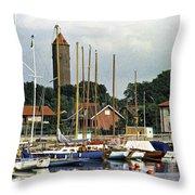 Halsingborg Marina 2 Throw Pillow