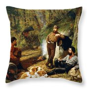 Halt On The Portage Throw Pillow