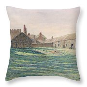 Halton Castle Throw Pillow