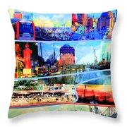 Hamburg Elbe Throw Pillow