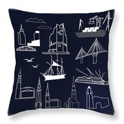 Hamburg In Miniature Throw Pillow