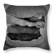 Hamburger And Potato Salad 4 Throw Pillow