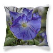 Hameau Bleu Throw Pillow