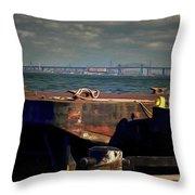 Hamilton Harbor- Pier 8 Throw Pillow