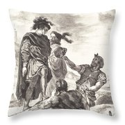 Hamlet And Horatio Before The Gravediggers (act V, Scene I) Throw Pillow