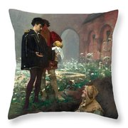 Hamlet And The Gravediggers Throw Pillow