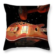 Hammering Out The Bass Throw Pillow