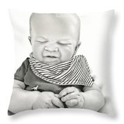 Funny Face Throw Pillow