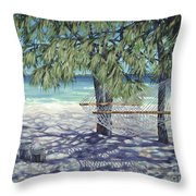 Hammock For Two Throw Pillow by Danielle  Perry