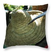 Hammock Greetings Throw Pillow