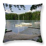 Hammock On Lake Winnipesaukee, Nh Throw Pillow