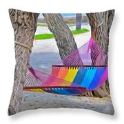 Hammock Time In The Florida Keys Throw Pillow