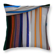 Hammocks In Colored Patterns Throw Pillow