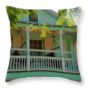 Hammocks In Paradise Throw Pillow