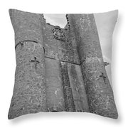 Hammond Castle Detail - Black And White Throw Pillow