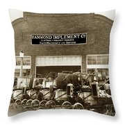Hammond Implement Company Farm Machinery 1924 Throw Pillow
