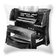 Hammond Organ 1960s Throw Pillow