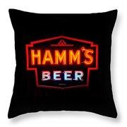 Hamm's Beer Throw Pillow