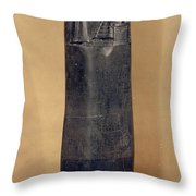 Hammurabis Code Throw Pillow