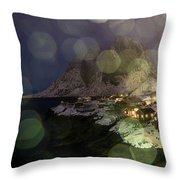 Hamnoy During A Storm Throw Pillow