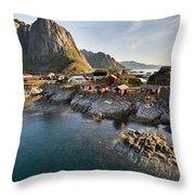 Hamnoy Island Throw Pillow