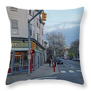 Hampshire Cafe Hampshire Street Cambridge Ma Throw Pillow