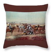 Hampshire Yeomanry Cavalry Throw Pillow