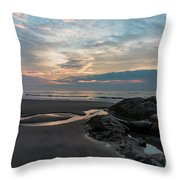 Hampton Beach State Park Throw Pillow