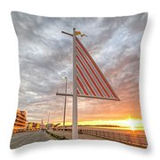 Hampton Beach Sunrise Hampton Beach State Park Hampton Nh Flag Throw Pillow