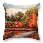 Hampton Ponds Fall Throw Pillow