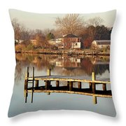 Hampton Virginia Sunrise Throw Pillow
