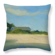 Hamptons Beach House Throw Pillow