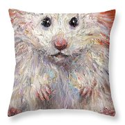 Hamster Painting  Throw Pillow