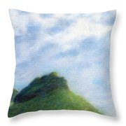 Hanakapia Beach View Throw Pillow