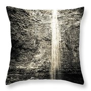 Hanakapiai Falls, Kauai, Hi Throw Pillow by T Brian Jones
