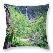 Hanakapiai Valley Throw Pillow