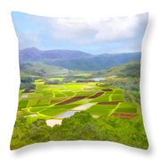 Hanalai Throw Pillow