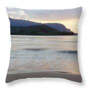 Hanalei Bay Evening Throw Pillow